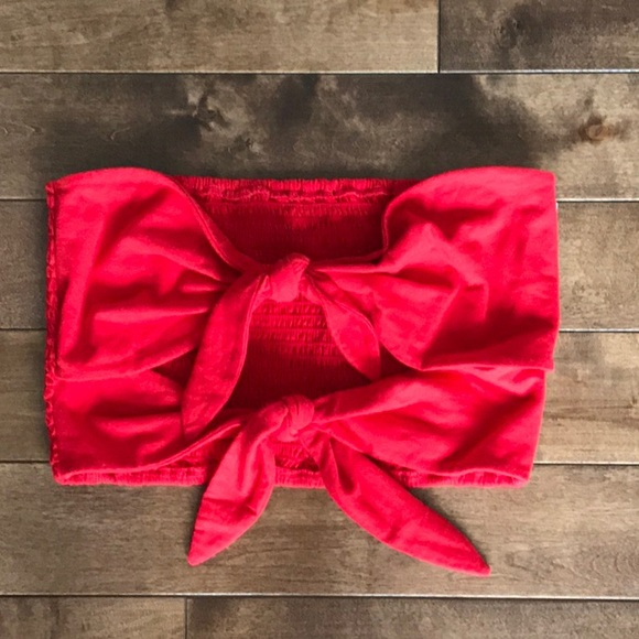 Aritzia Wilfred Daveney Tube Top- Red- Size L